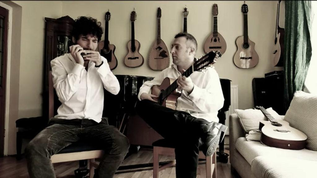 Harmonica and Guitar Tango