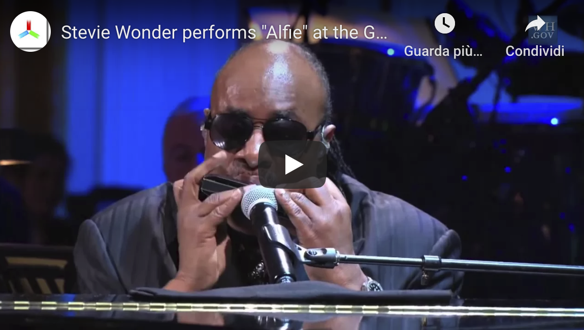 Stevie Wonder performance with his chromatic harmonica